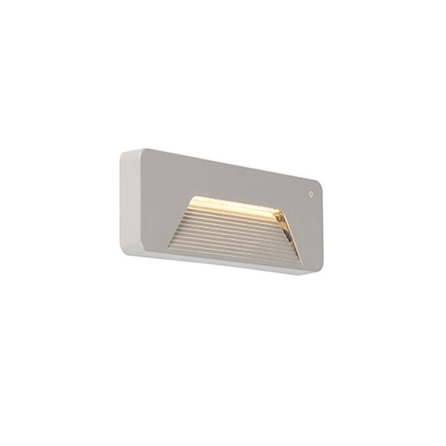 Moderne rechthoekige buitenwandlamp grijs incl. LED - Pod