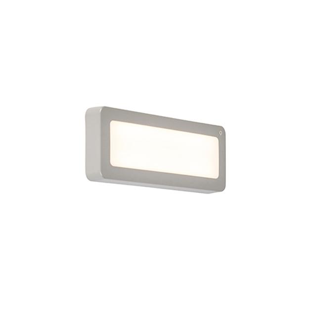 Moderne rechthoekige buitenwandlamp grijs incl. LED - Prim