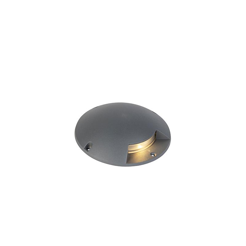 Moderne ronde grondspot donkergrijs incl. LED 1W - Pod