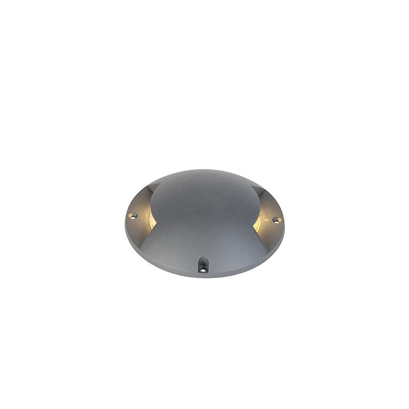 Moderne ronde grondspot donkergrijs incl. LED 2W - Pod