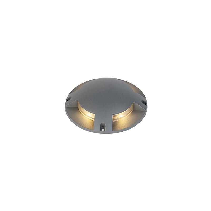 Moderne ronde grondspot donkergrijs incl. LED 4W - Pod