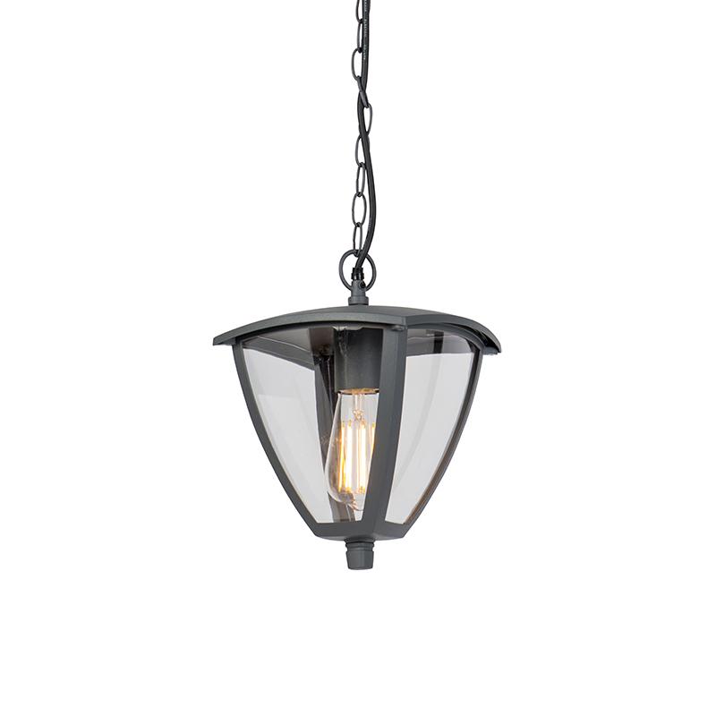 Moderne Buitenlantaarn Hanglamp Donkergrijs - Platar