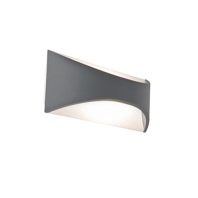 Moderne buitenwandlamp donkergrijs incl. LED - Para