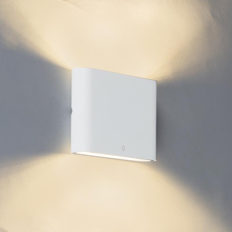 Moderne buitenwandlamp wit 11,5cm incl. LED - Batt