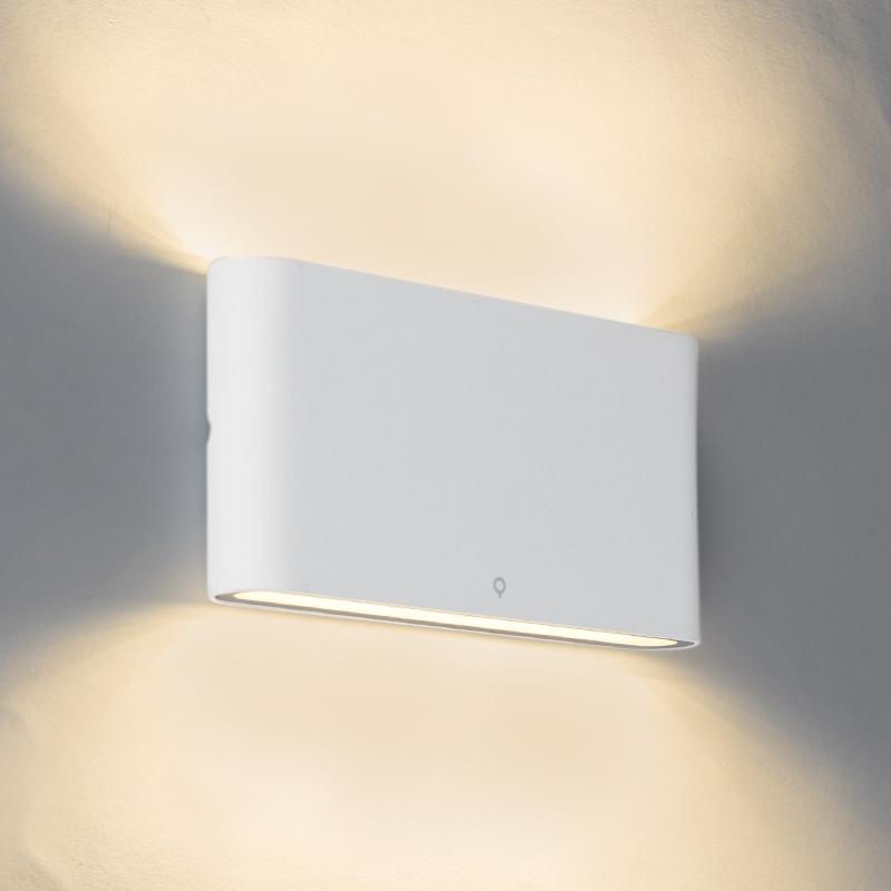 Wandlamp wit 17,5 cm incl. LED IP65 - Batt