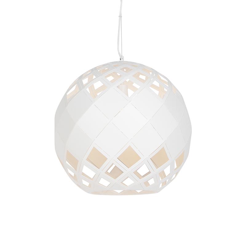 Art Deco Hanglamp Wit - Tourmaline