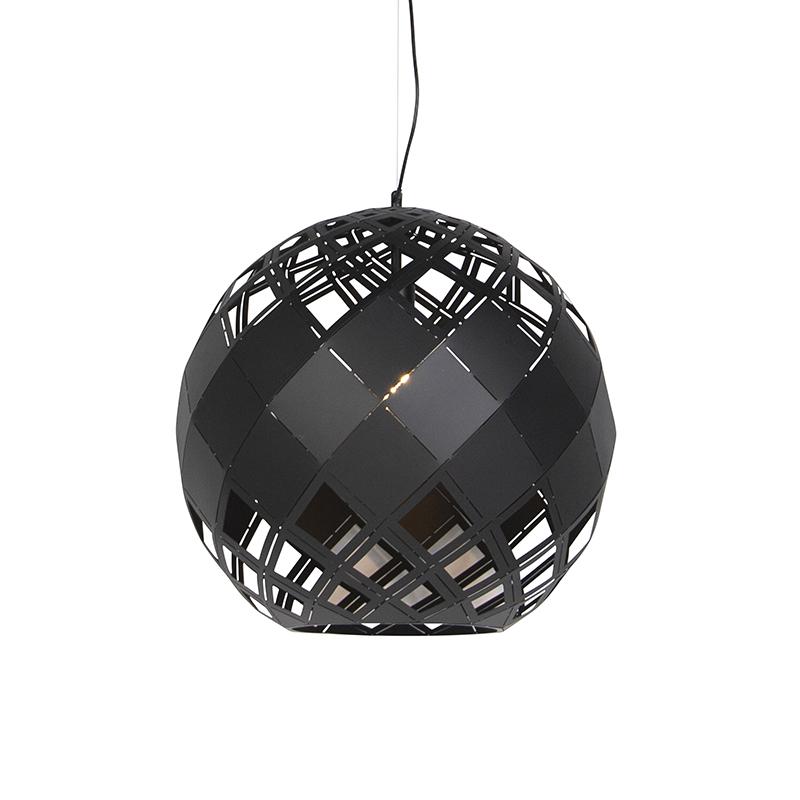 Art Deco Hanglamp Zwart - Tourmaline