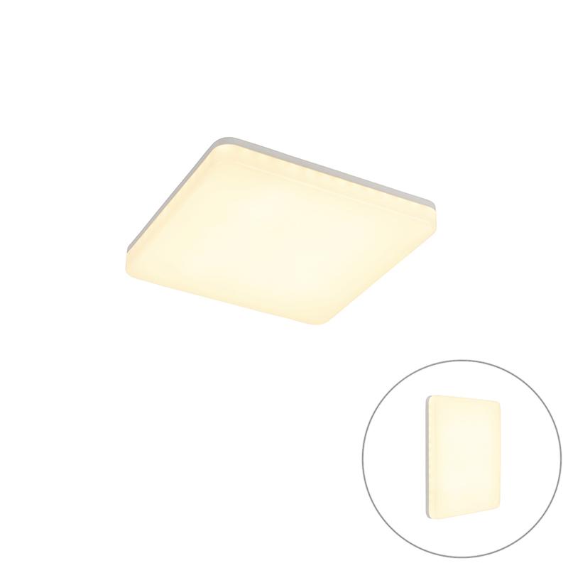 Nowoczesna kwadratowa lampa zewnętrzna LED czujnik zmierzchu - Plater