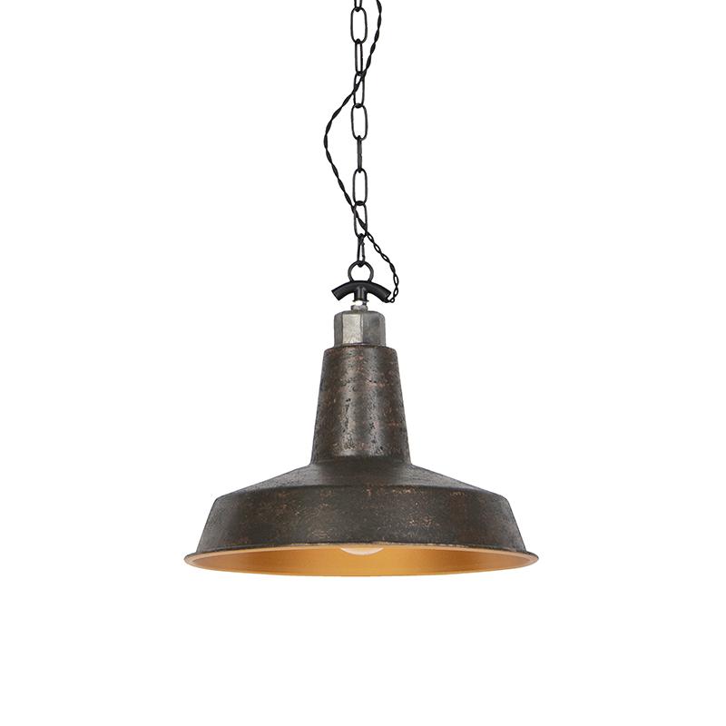Industriele Ronde Hanglamp Roestkleur - Manhattan