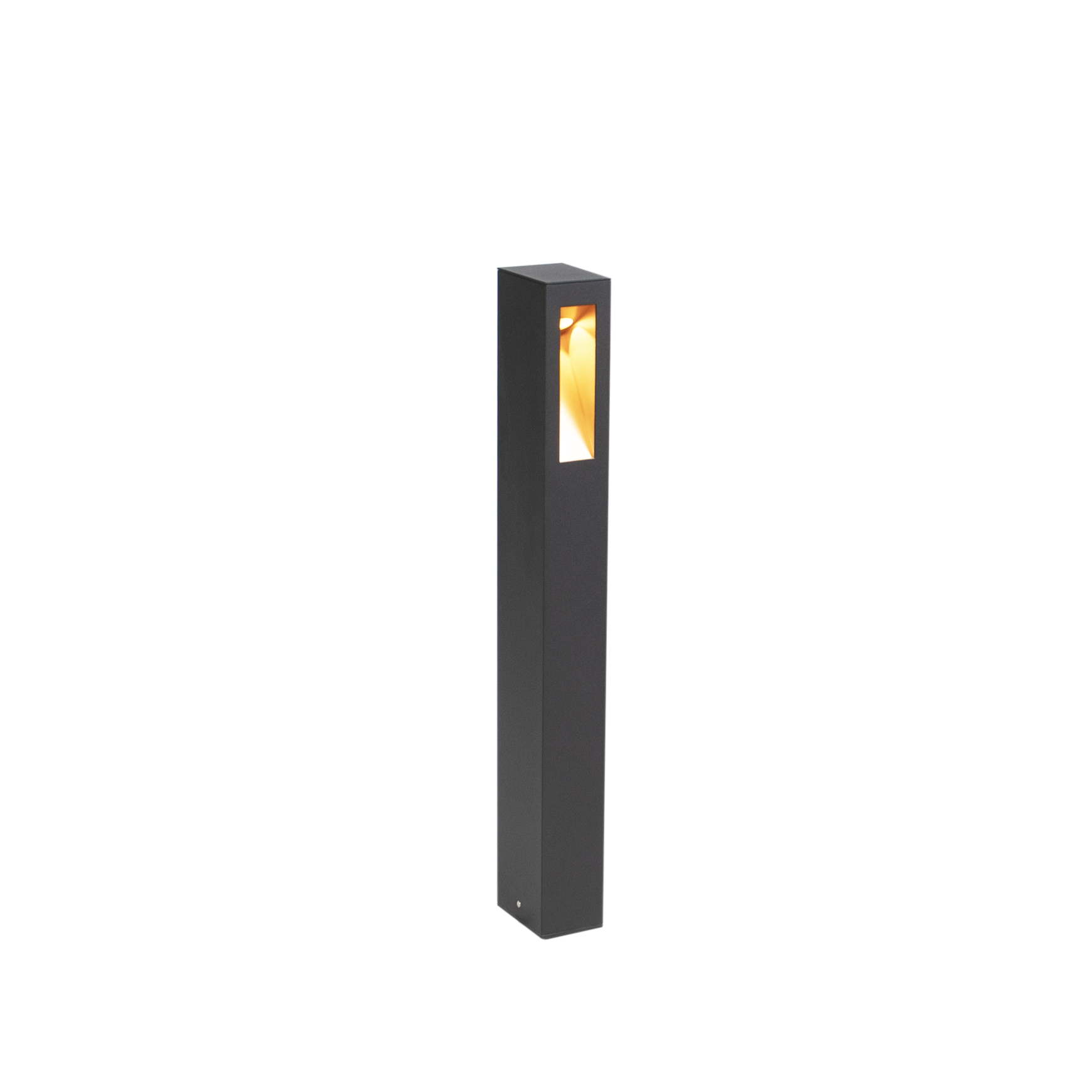 Moderne Staande Buitenlamp Led Zwart Met Gouden Binnenkant 65cm - Intorus