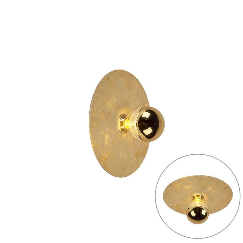 Moderne wandlamp goud 30cm - Disque