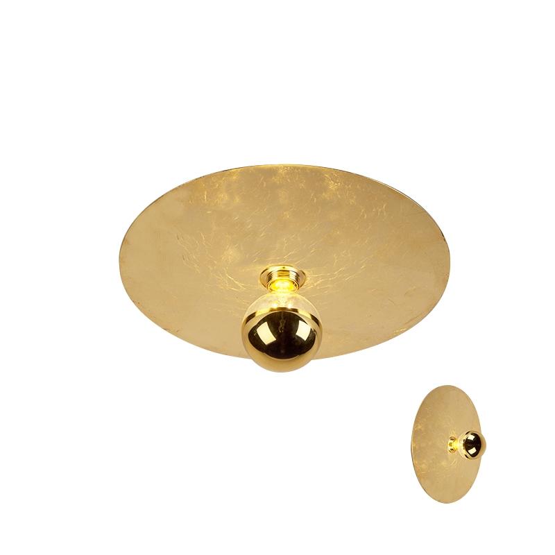 Moderne plafondlamp goud 40cm - Disque