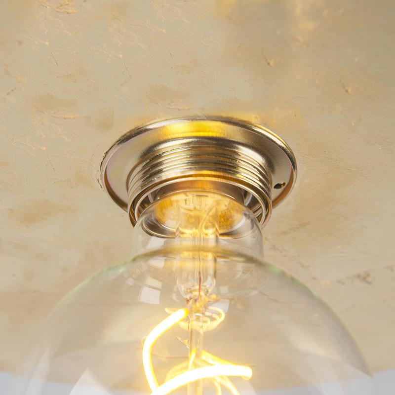 Moderne ronde plafondlamp 40cm goud – Disque