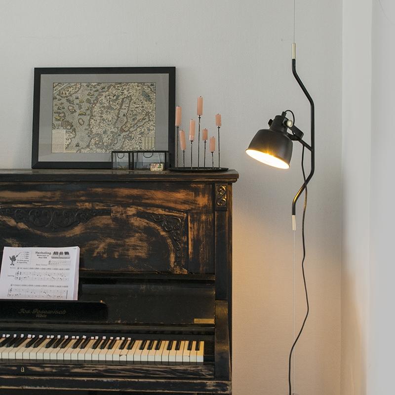 Moderne Hanglamp Zwart In Hoogte Verstelbaar - Contra