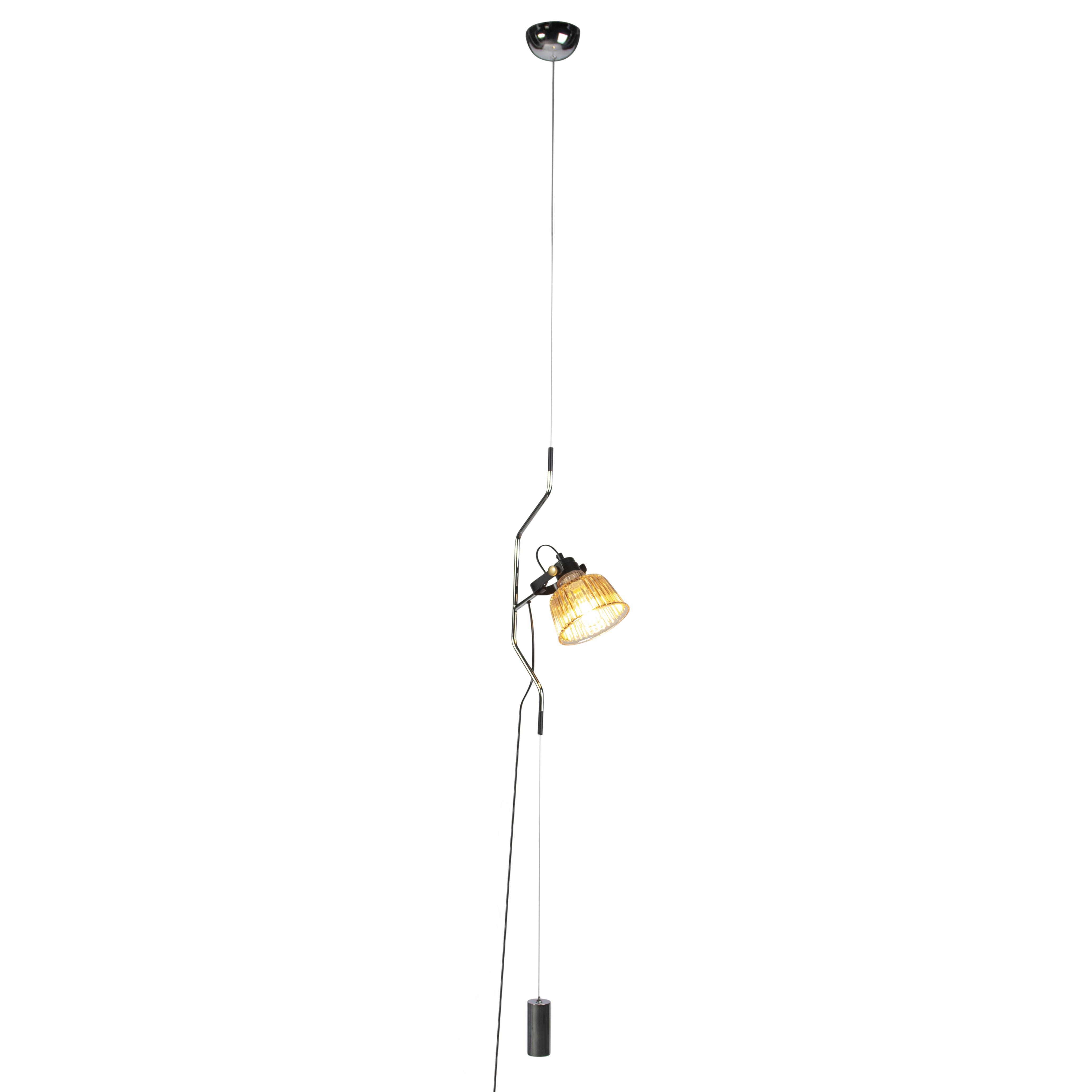 Moderne hanglamp chroom met glas in hoogte verstelbaar - Contra