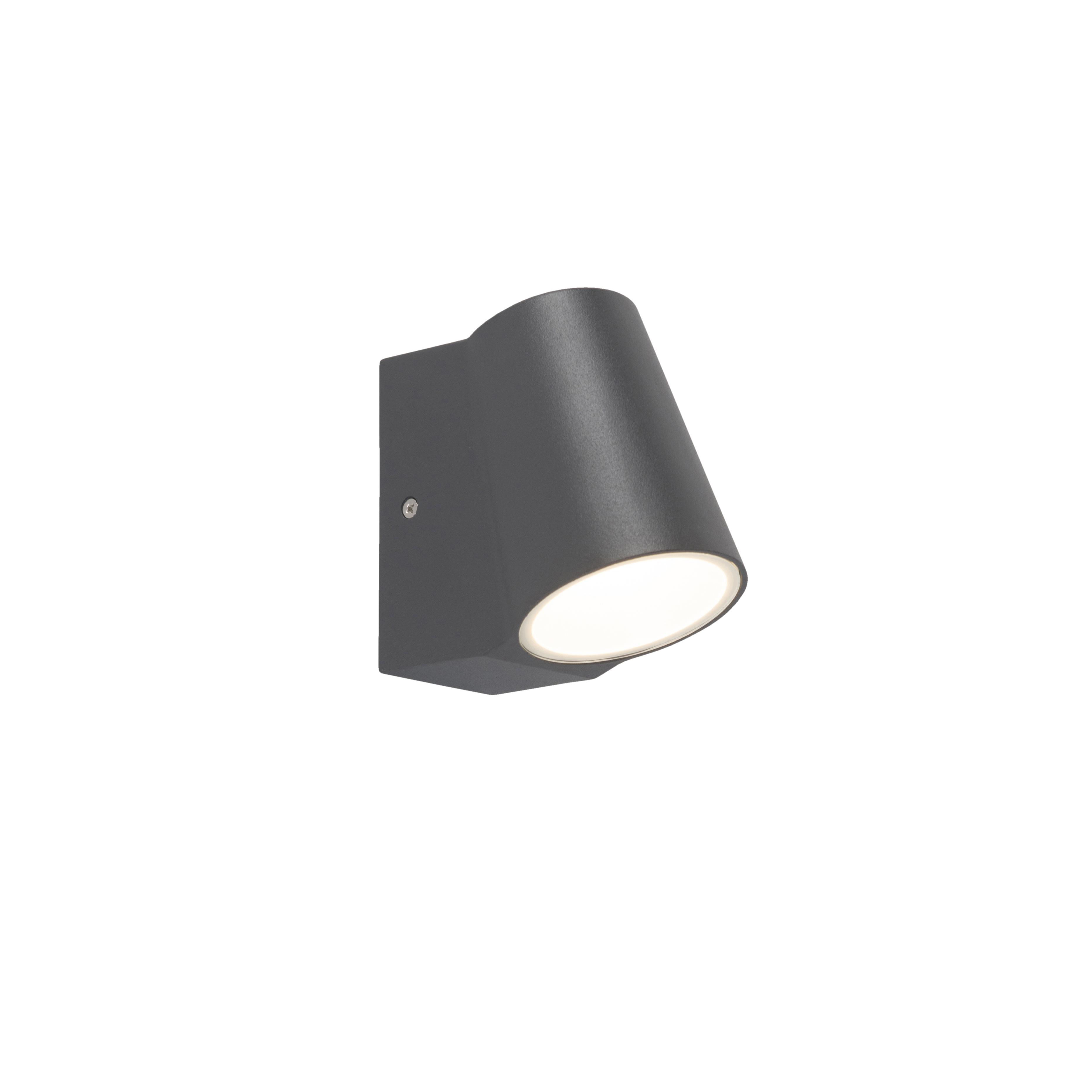 Moderne buitenwandlamp donkergrijs incl. LED - Uma