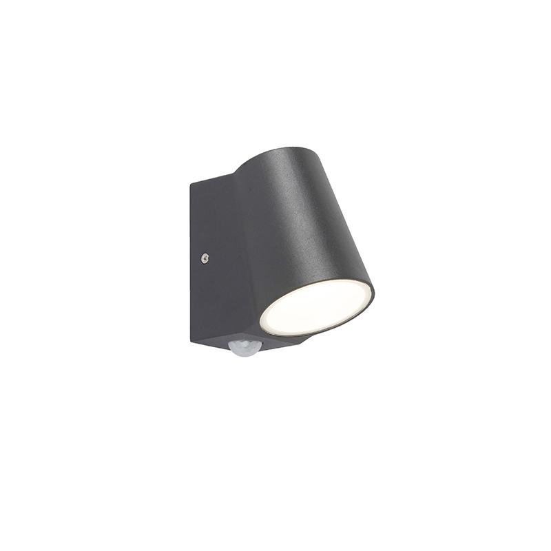 Buitenlamp antraciet met bewegingssensor incl. LED - Uma