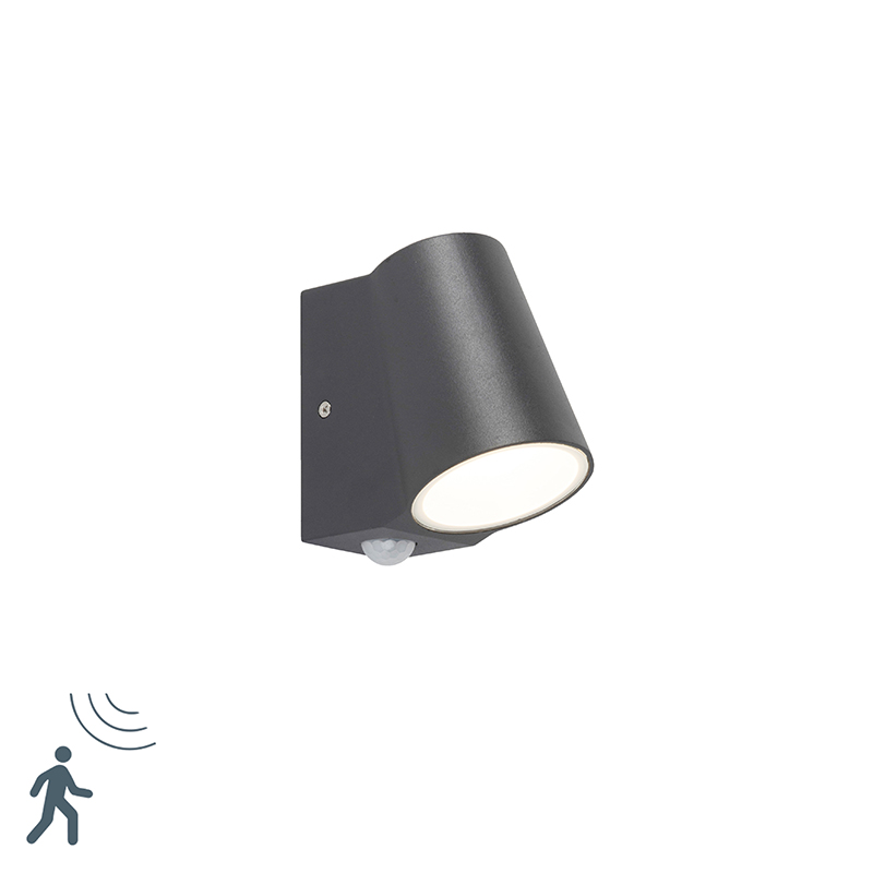 Kinkiet zewnętrzny antracyt czujnik ruchu LED - Uma