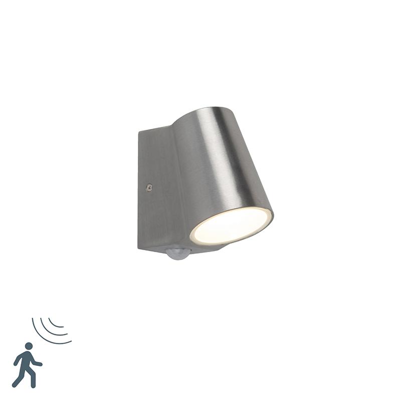 Buitenlamp aluminium met bewegingssensor incl. LED - Uma