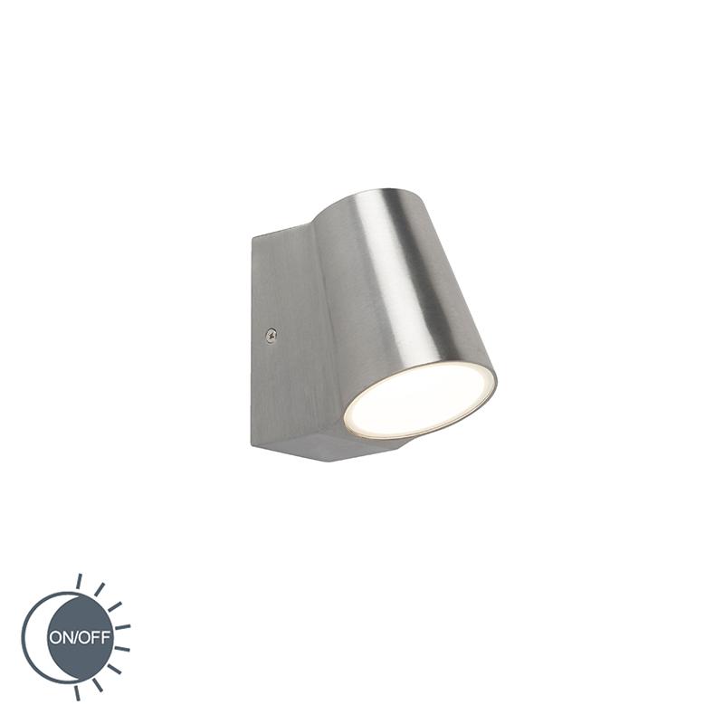 Moderne Buitenwandlamp Aluminium Met Licht-donker Sensor Incl. Led - Uma