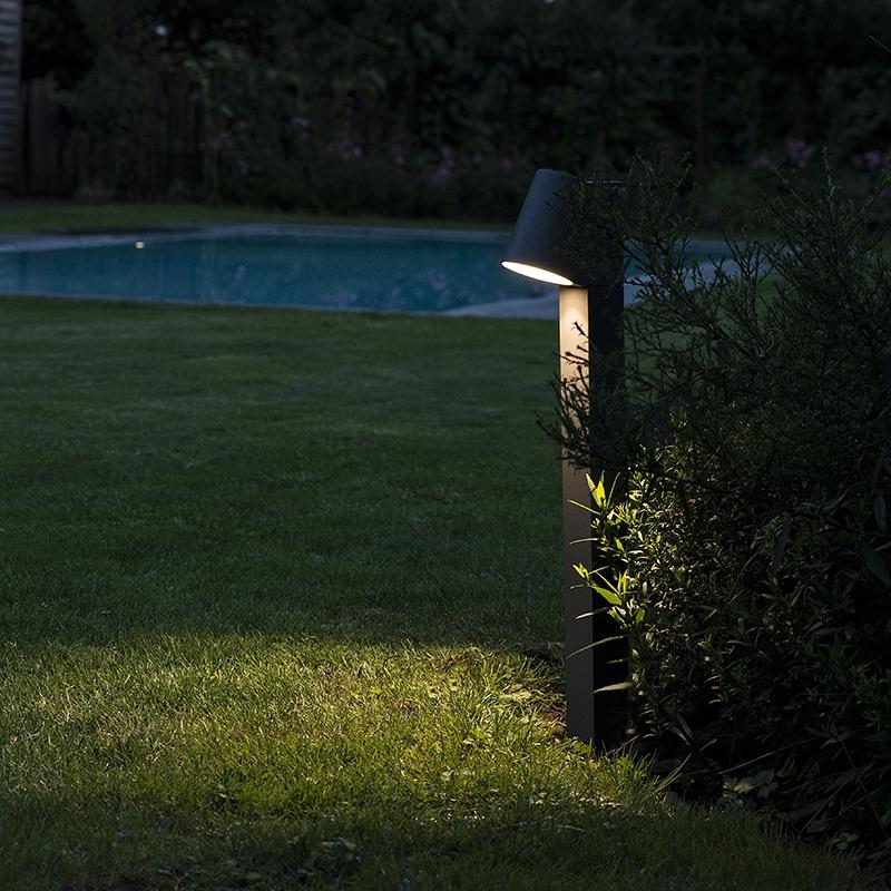 Moderne buitenlamp donkergrijs 62cm incl. LED - Uma