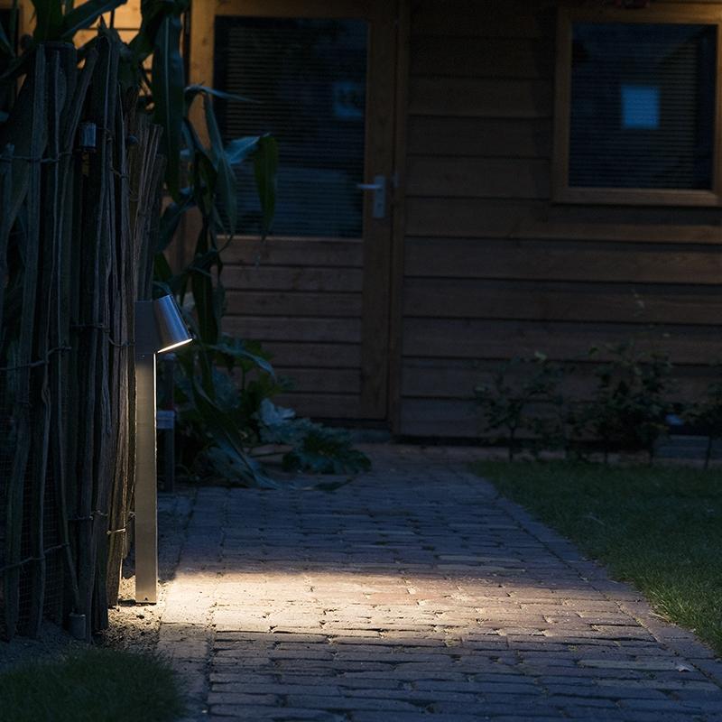 Moderne buitenlamp aluminium 62cm incl. LED - Uma