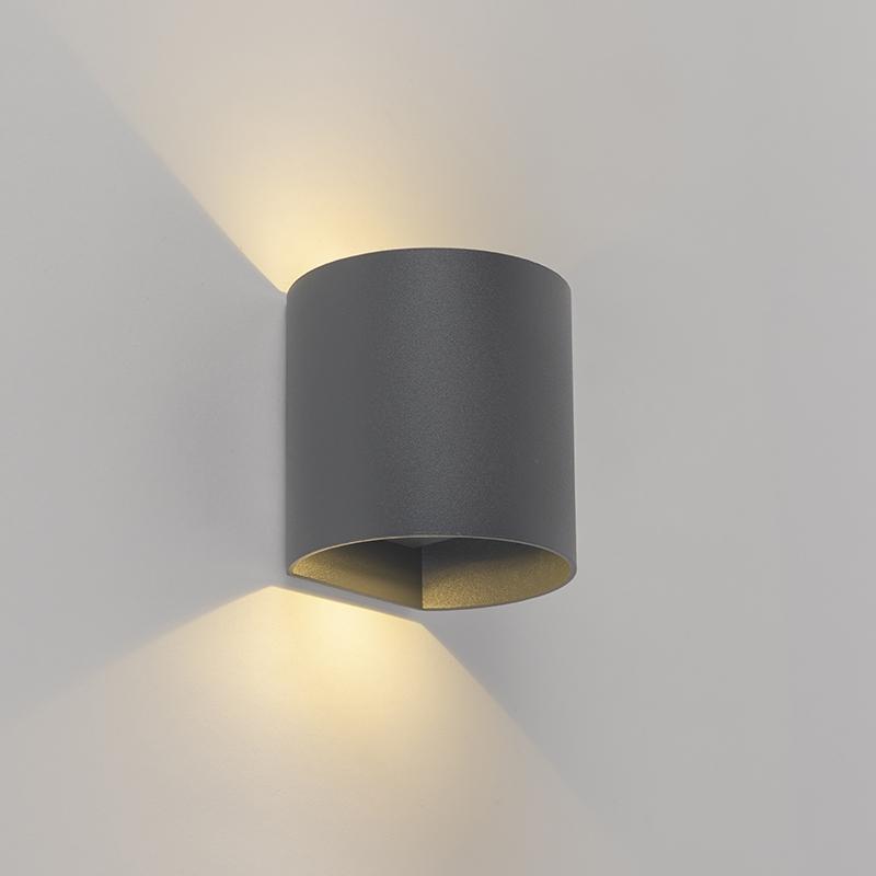 Moderne wandlamp antraciet incl. LED rond - Evi
