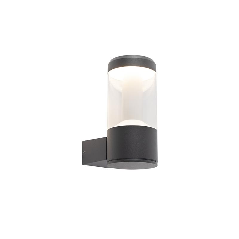 Moderne ronde buitenwandlamp donkergrijs - Imcus
