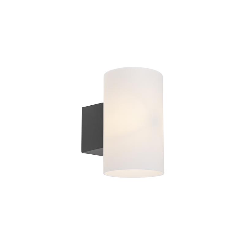 Moderne ronde buitenwandlamp donkergrijs - Arcus