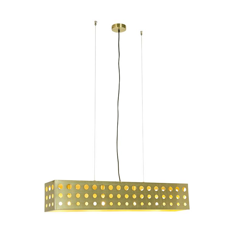 Vintage lampa wisząca złota 4-źródła światła - Cage 70's