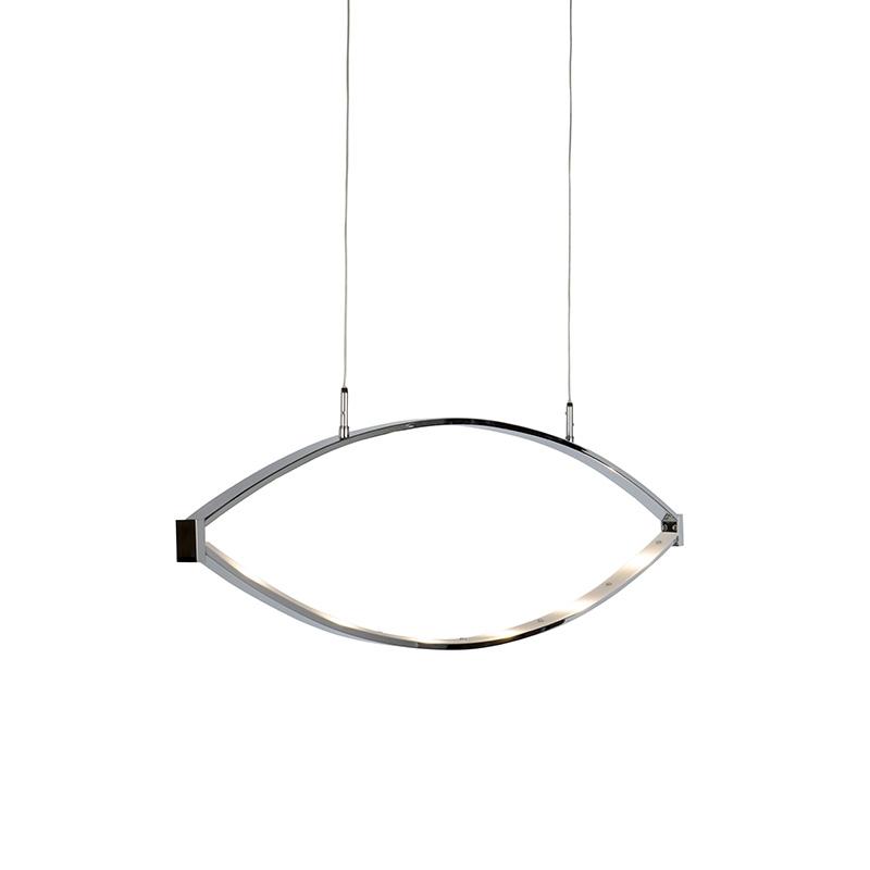 Moderne hanglamp chroom incl. LED - Lois