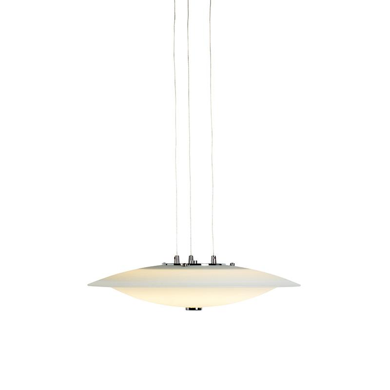 Moderne hanglamp staal met met rond glas - Daxam