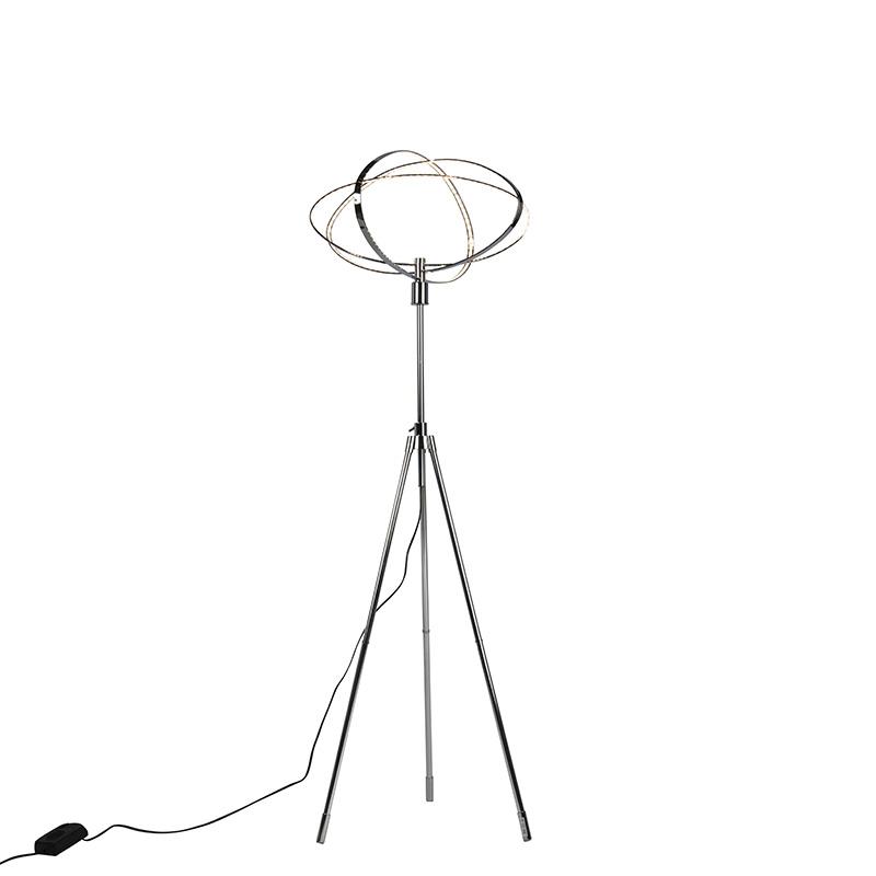 Design vloerlamp chroom incl. LED - Circus