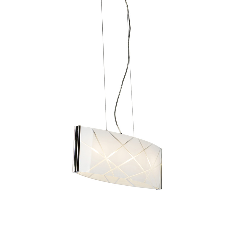 Design hanglamp chroom met glas incl. LED - Tabby