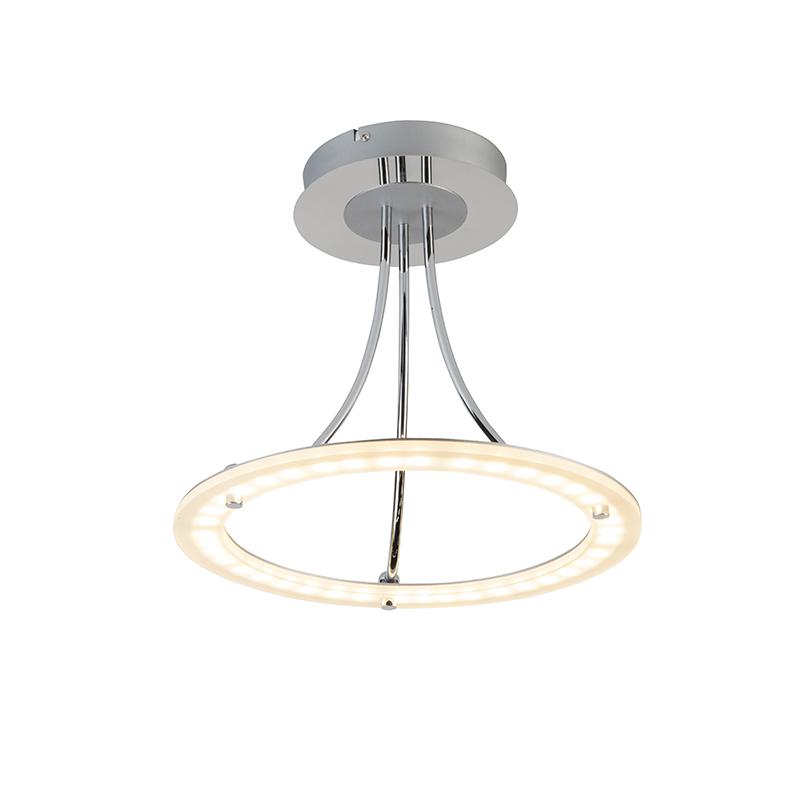 Moderne ronde plafondlamp chroom incl. LED - Lapoto