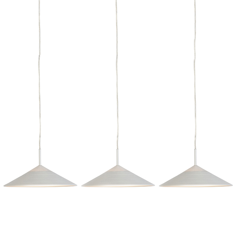 Set van 3 moderne hanglampen wit incl. LED - Lupos