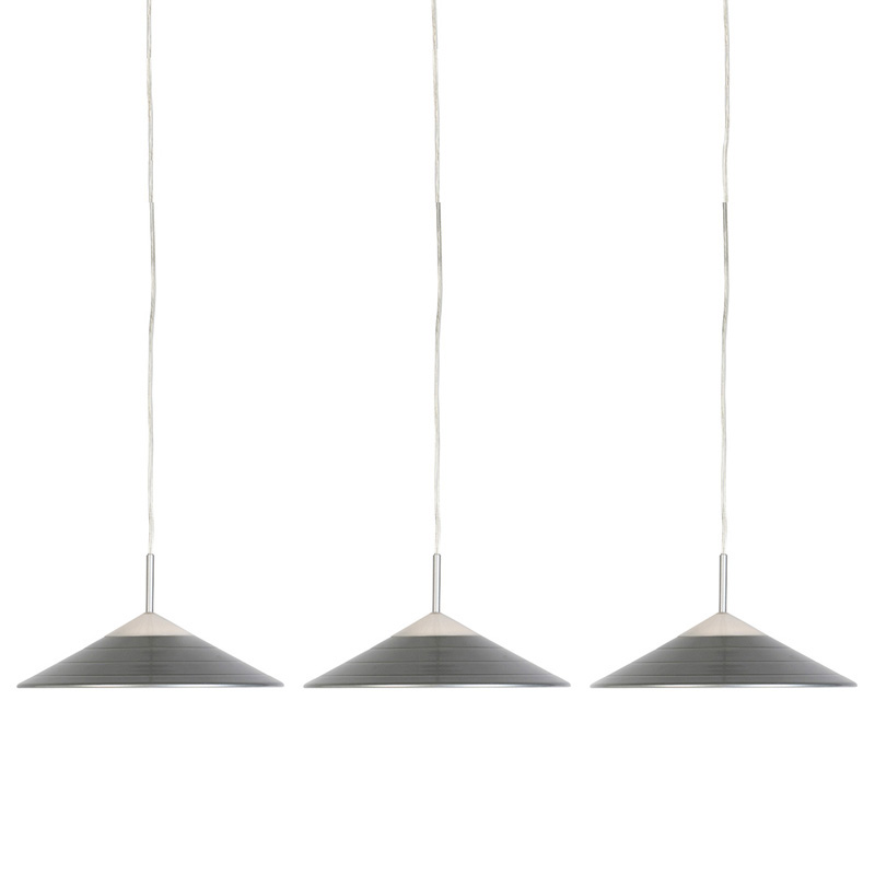 Set van 3 moderne hanglampen grijs incl. LED - Lupos