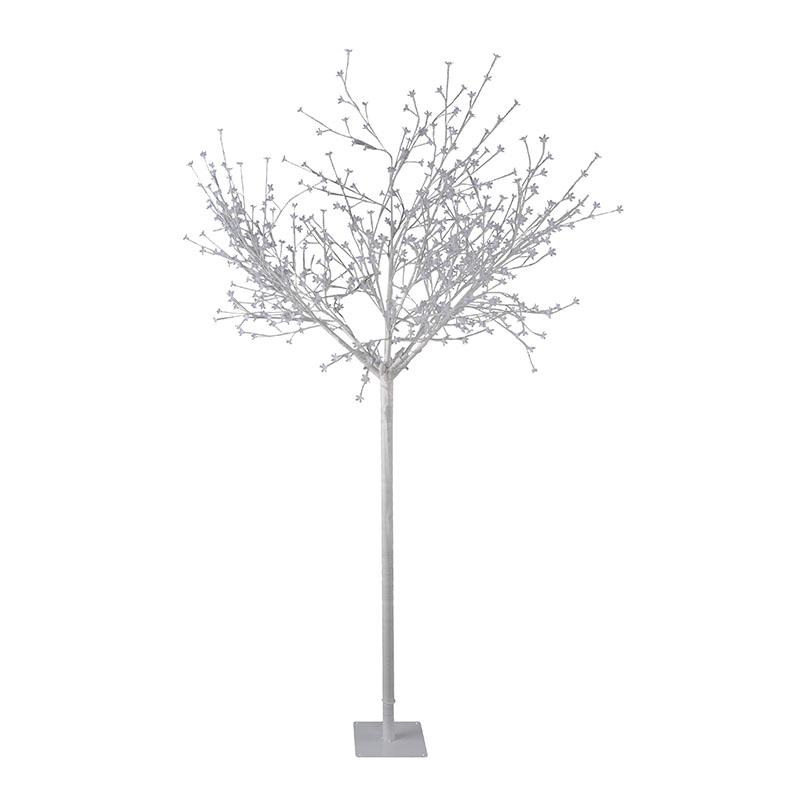 Landelijke buitenlamp wit met witte knopjes IP44 - Tree
