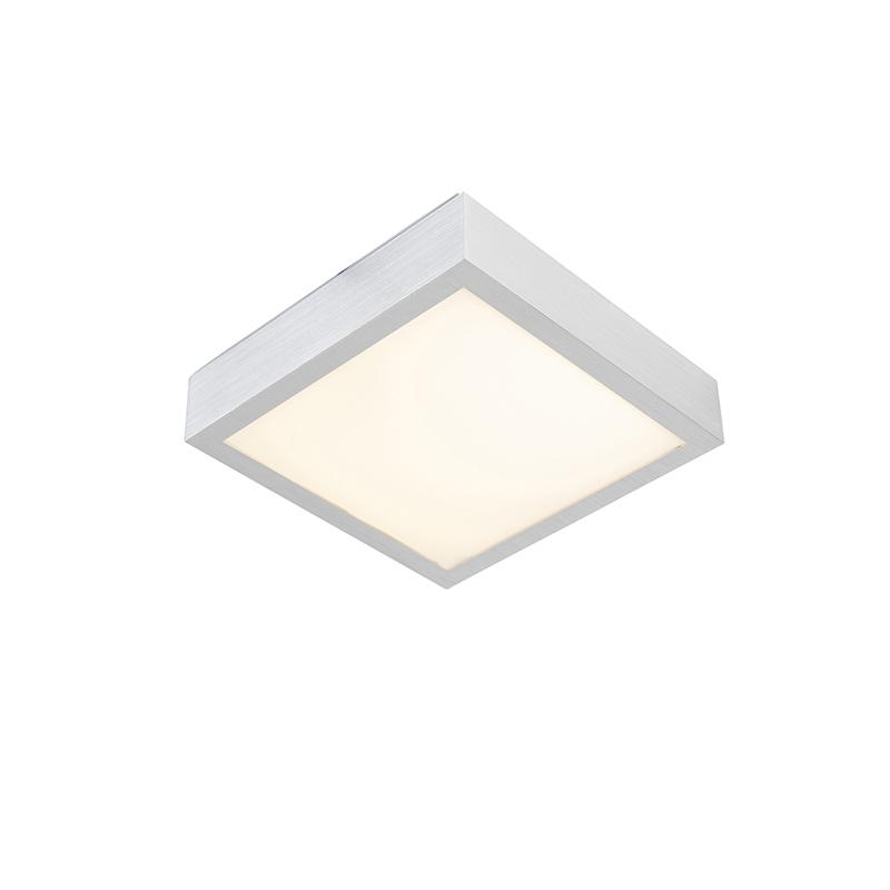Moderne vierkante plafondlamp aluminium incl. LED - Four
