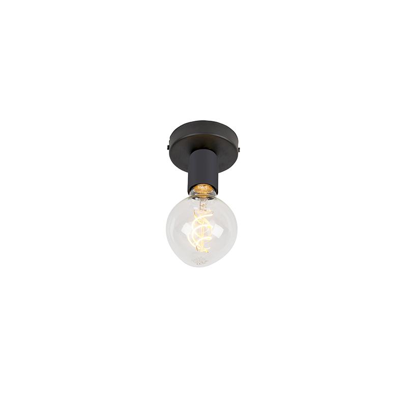 Moderne plafondlamp zwart 1-lichts - Facile