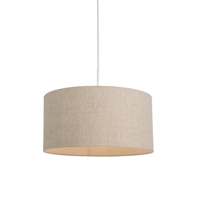 Moderne hanglamp wit met peper kleurige kap 50cm - Combi 1