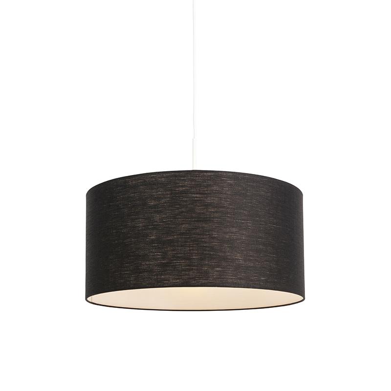 Lampa wisząca biała klosz czarny 50cm - Combi