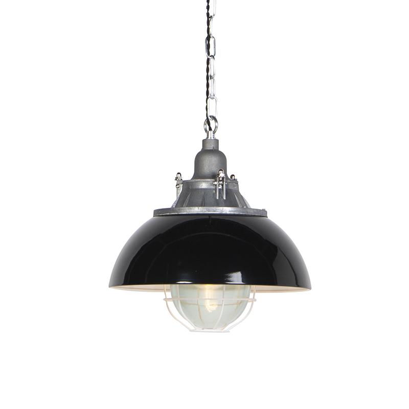 Industriele hanglamp zwart - Nelly