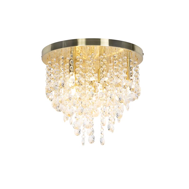 Klasyczna lampa sufitowa złoty / mosiądz 35 cm - Medusa