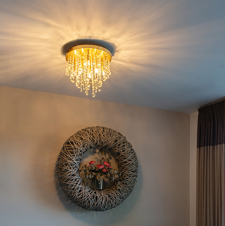 Klassieke plafondlamp goud/messing 35 cm - Medusa