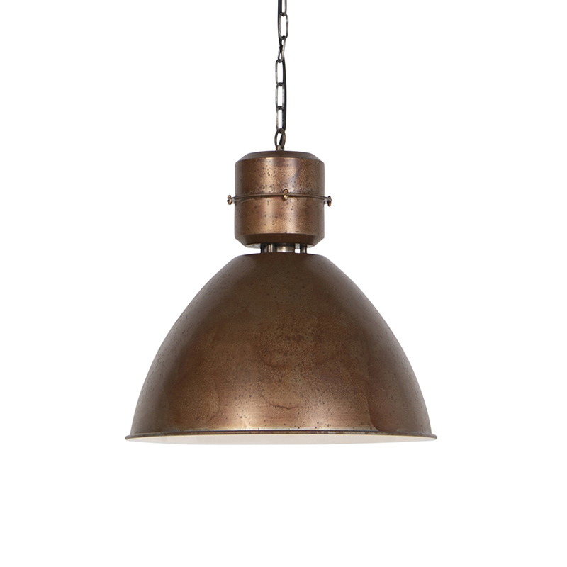Industriele hanglamp roest - Flynn