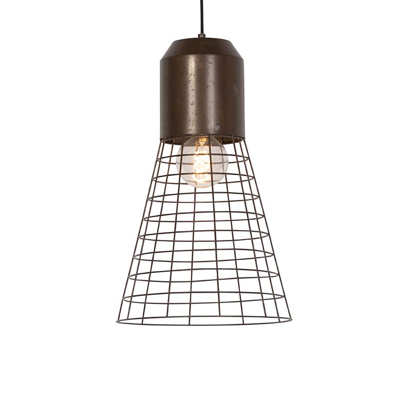 Przemysłowa lampa wisząca rdza 31cm - Fausa