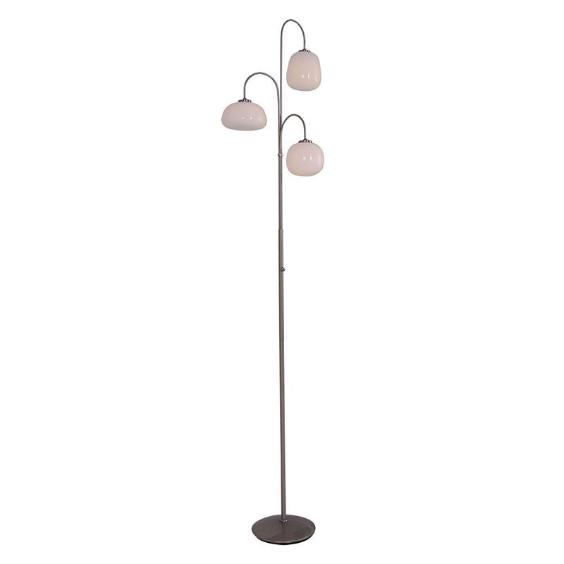 Moderne vloerlamp staal met glas dimbaar incl. LED - Dale