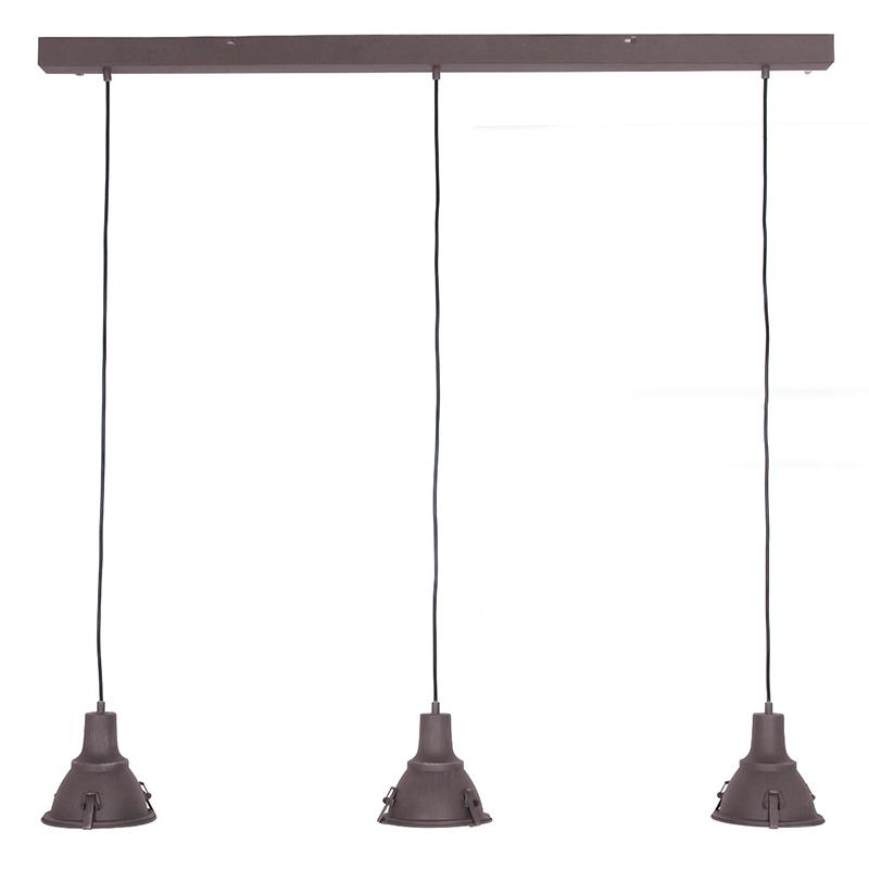 Landelijke hanglamp bruin 3-lichts - Scott