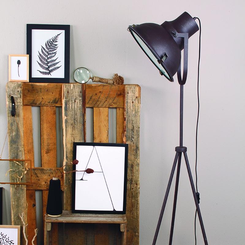 Industriele vloerlamp bruin - Rosita